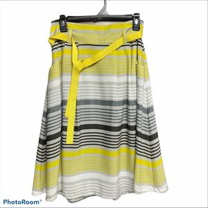 LOld Navy yellow/gray/white size small full skirt